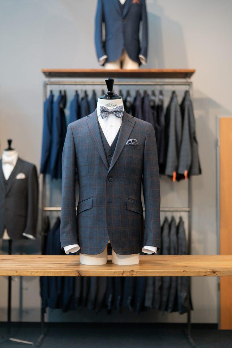 Albert | Blauer Anzug mit Überkaro