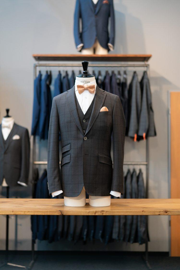 Anton | Grauer Anzug mit Überkaro
