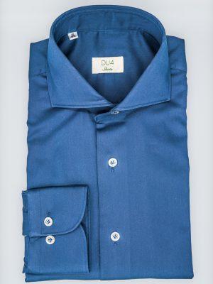 """Stretch Hemd """"Davis"""" in Blau mit Sportmanschette"""