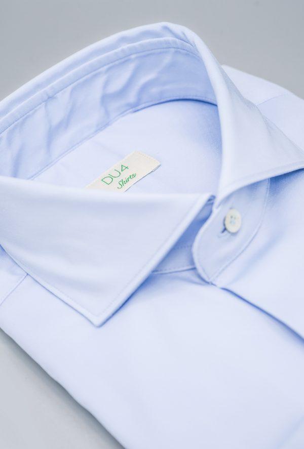 """Stretch Hemd """"Davis"""" in Hellblau mit Sportmanschette"""