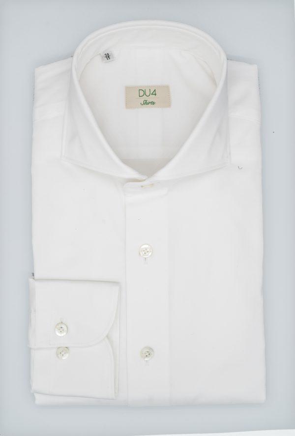 """Stretch Hemd """"Davis"""" in Weiß mit Sportmanschette"""