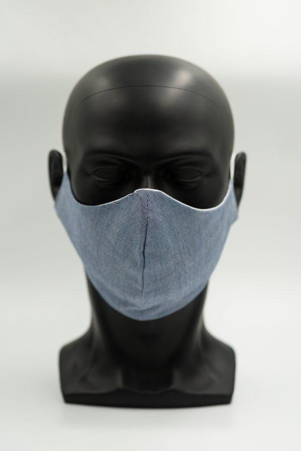 Mund- und Gesichtsmaske in blau