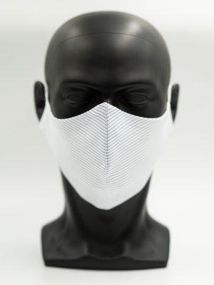 Mund- und Gesichtsmaske blau gestreift