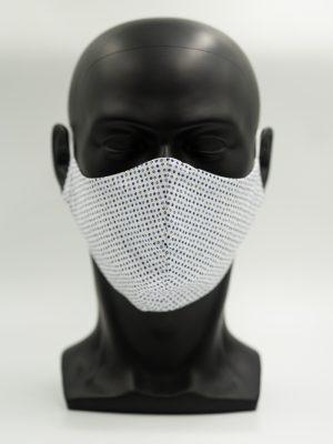 Mund- und Gesichtsmaske blau mit Punkten