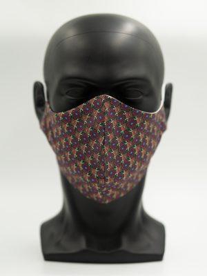Mund- und Gesichtsmaske bunt