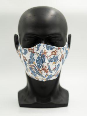 Mund- und Gesichtsmaske mit Dschungelmuster