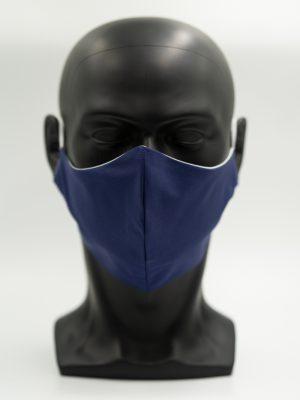 Mund- und Gesichtsmaske dunkeblau