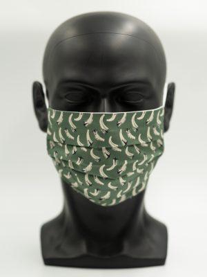 Mund- und Gesichtsmaske Flugzeuge mit Falten