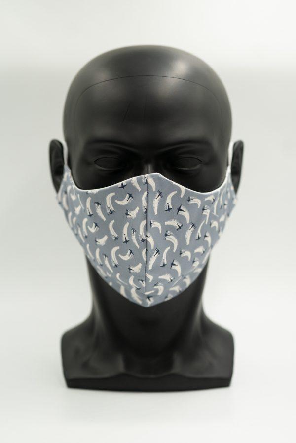 Mund- und Gesichtsmaske mit Flugzeuge