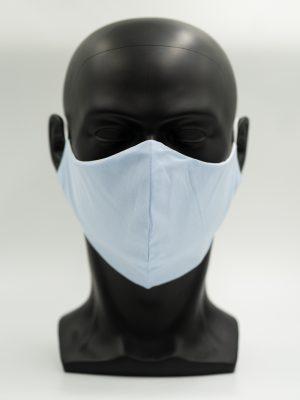 Mund- und Gesichtsmaske hellblau
