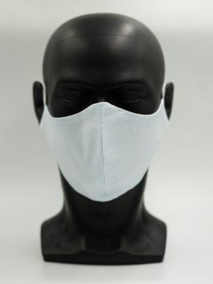Mund- und Gesichtsmaske hellblau Karo-Muster