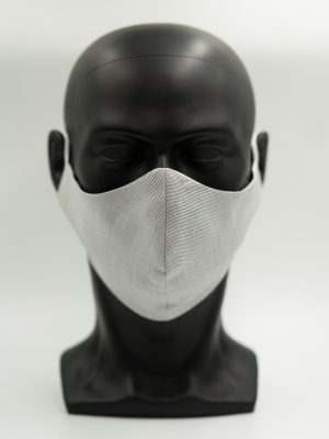 Mund- und Gesichtsmaske hellgrau