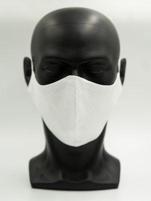 Mund- und Gesichtsmaske mit hellgrauen Kreisen