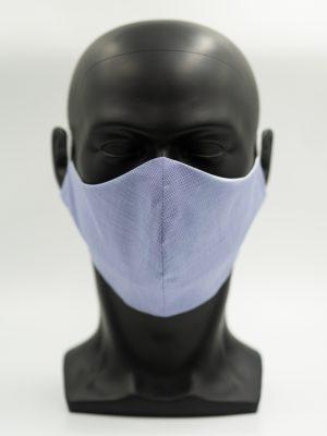 Mund- und Gesichtsmaske mittelblau