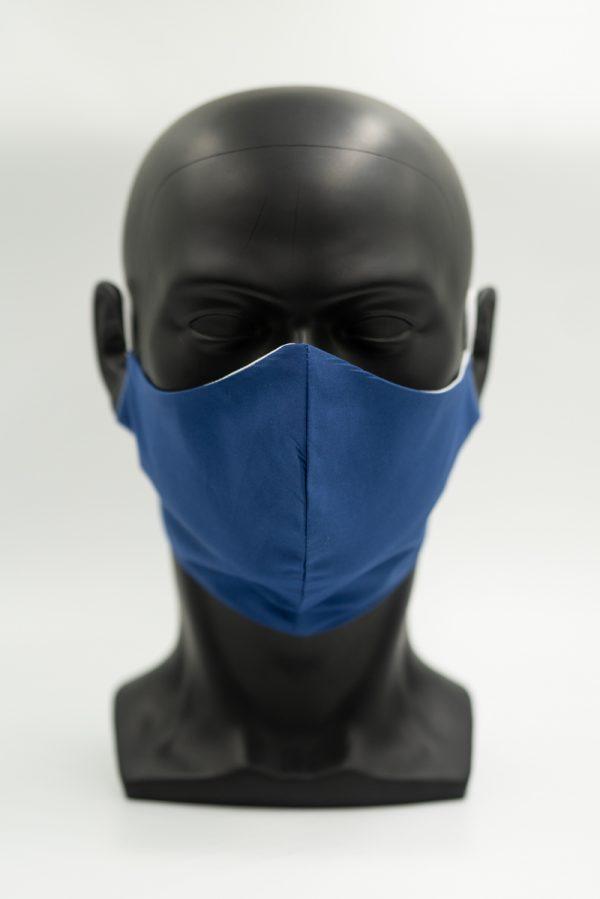 Mund- und Gesichtsmaske royalblau