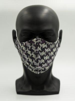 Mund- und Gesichtsmaske schwarz-grau gemustert