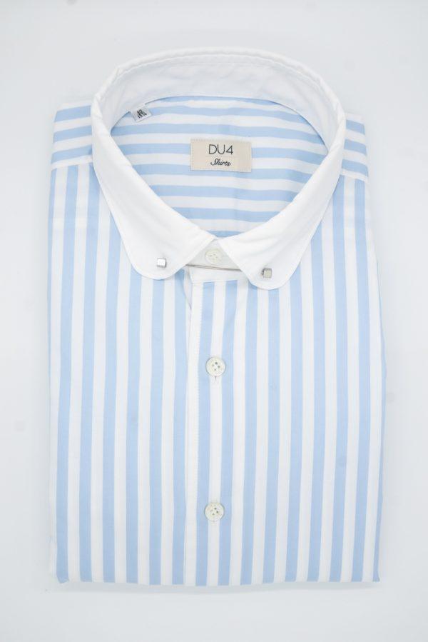 "Nadelkragen-Hemd ""Rony"" weiß/blau gestreift"