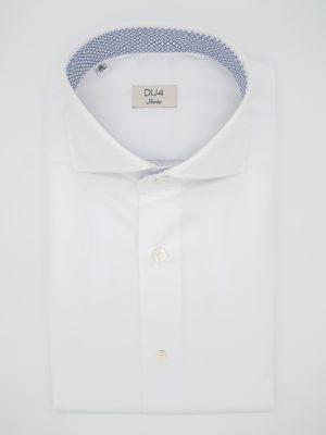 "Hemd ""Luca"" weiß mit Kontrast in dunkelblau"