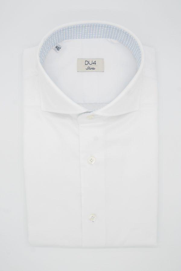 "Hemd ""Bros"" weiß mit hellblauem Kontrast"