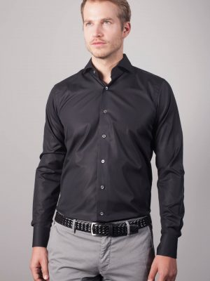 "True Black ""Henjo"" Slim Fit Hemd"