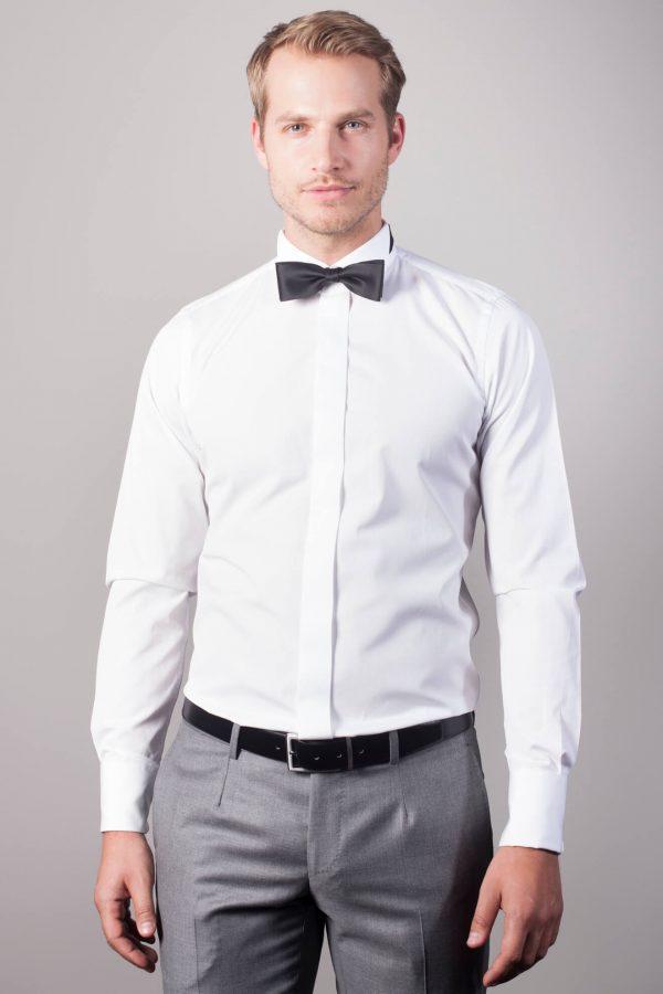 """Anlass Hemd """"Arles"""" in Weiß mit Kläppchenkragen"""
