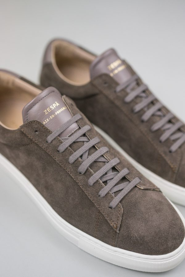 Zespa Sneaker grau velours