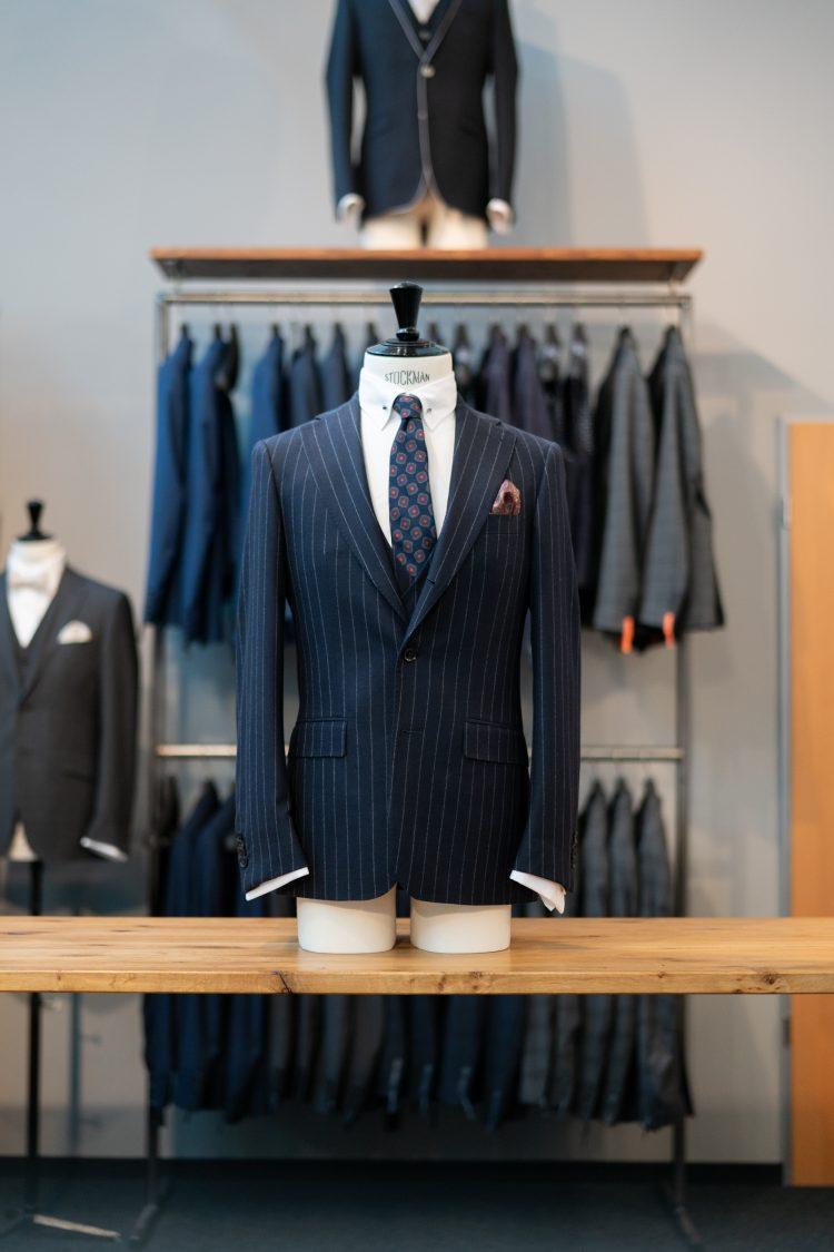 Bob | Nadelstreifen Anzug dunkelblau